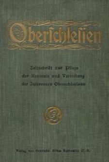 Oberschlesien, 1915, Jg. 14, Inhaltsverzeichnis