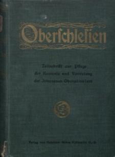 Oberschlesien, 1916, Jg. 15, Inhaltsverzeichnis