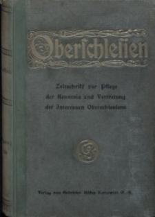 Oberschlesien, 1918, Jg. 17, Inhaltsverzeichnis