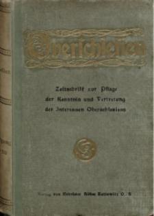 Oberschlesien, 1919, Jg. 18, Inhaltsverzeichnis