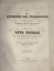 Die Heimkehr des Verbannten. Tragische Oper in drei Acten