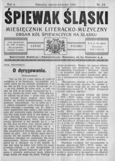 Śpiewak Śląski, 1925, R. 6, nr 3/4