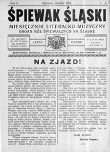 Śpiewak Śląski, 1925, R. 6, nr 6