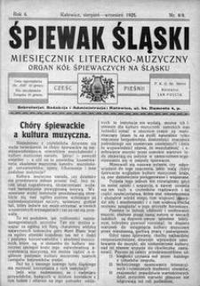 Śpiewak Śląski, 1925, R. 6, nr 8/9