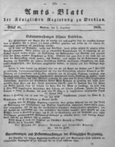 Amts-Blatt der Königlichen Regierung zu Breslau, 1859, Bd. 50, St. 48