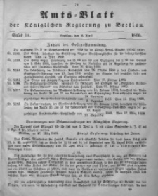 Amts-Blatt der Königlichen Regierung zu Breslau, 1860, Bd. 51, St. 14