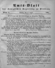 Amts-Blatt der Königlichen Regierung zu Breslau, 1860, Bd. 51, St. 33