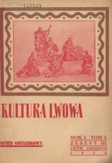 Kultura Lwowa, 1932, R. 1, T. 1, z. 3