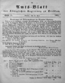 Amts-Blatt der Königlichen Regierung zu Breslau, 1861, Bd. 52, St. 15