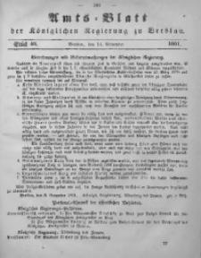 Amts-Blatt der Königlichen Regierung zu Breslau, 1861, Bd. 52, St. 46