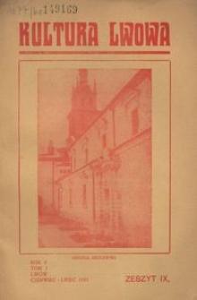 Kultura Lwowa, 1933, R. 2, T. 1, z. 9