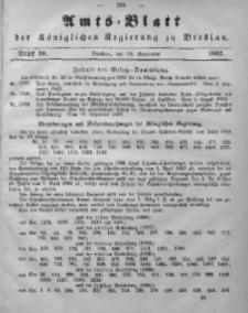 Amts-Blatt der Königlichen Regierung zu Breslau, 1862, Bd. 53, St. 39