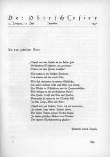 Der Oberschlesier, 1932, Jg. 14, Heft 12