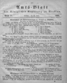 Amts-Blatt der Königlichen Regierung zu Breslau, 1864, Bd. 55, St. 18