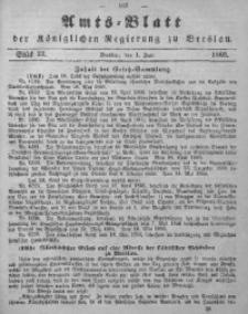 Amts-Blatt der Königlichen Regierung zu Breslau, 1866, Bd. 57, St. 22