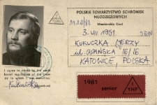 Karta członkowska PTSM, 1981