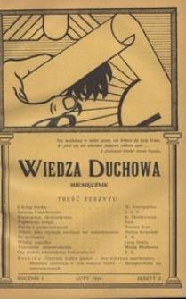 Wiedza Duchowa, 1934, R. 1, z. 2