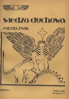 Wiedza Duchowa, 1934, R. 1, z. 7