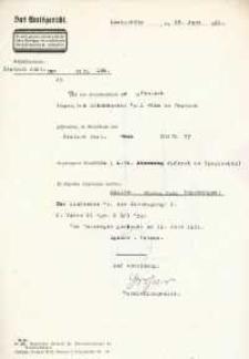 Wyrok Sądu Rejonowego w Głubczycach z 18.06.1931 r.