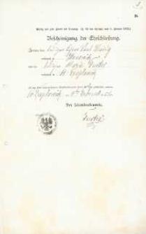 Akt zawarcia małżeństwa z 4.02.1902 r.