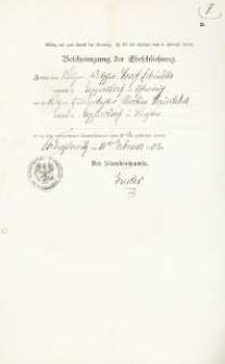 Akt zawarcia małżeństwa z 10.02.1902 r.