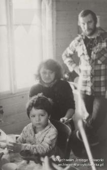 Istebna, początek lat. 80. XX w. Maciej Kukuczka, Cecylia Kukuczka, Jerzy Kukuczka