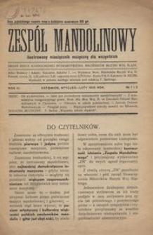 Zespół Mandolinowy : ilustrowany miesięcznik muzyczny dla wszystkich, R. 3, 1935, nr 1 i 2