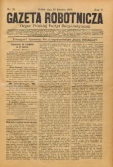 Gazeta Robotnicza, 1895, R. 5, nr 25