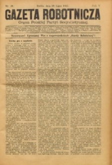 Gazeta Robotnicza, 1895, R. 5, nr 29