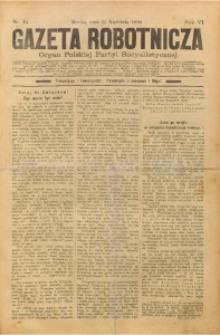 Gazeta Robotnicza, 1896, R. 6, nr 15