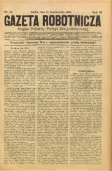 Gazeta Robotnicza, 1896, R. 6, nr 43