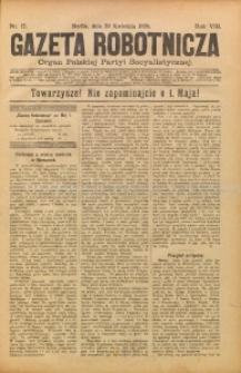 Gazeta Robotnicza, 1898, R. 8, nr 17