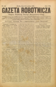 Gazeta Robotnicza, 1898, R. 8, nr 53