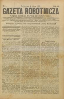 Gazeta Robotnicza, 1899, R. 9, nr 5