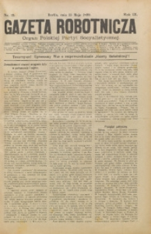 Gazeta Robotnicza, 1899, R. 9, nr 19