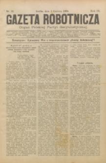 Gazeta Robotnicza, 1899, R. 9, nr 22