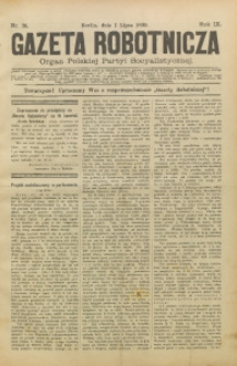 Gazeta Robotnicza, 1899, R. 9, nr 26