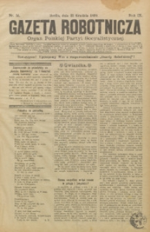 Gazeta Robotnicza, 1899, R. 9, nr 51