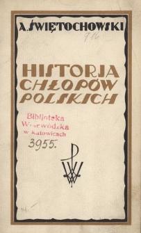 Historja chłopów polskich w zarysie. Cz. 1, W Polsce niepodległej