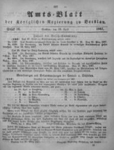 Amts-Blatt der Königlichen Regierung zu Breslau, 1867, Bd. 58, St. 16