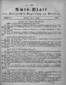 Amts-Blatt der Königlichen Regierung zu Breslau, 1867, Bd. 58, St. 31