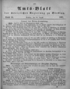 Amts-Blatt der Königlichen Regierung zu Breslau, 1867, Bd. 58, St. 33