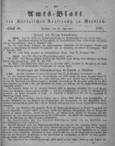 Amts-Blatt der Königlichen Regierung zu Breslau, 1867, Bd. 58, St. 48