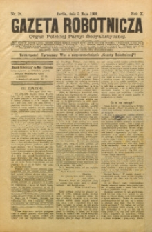 Gazeta Robotnicza, 1900, R. 10, nr 18