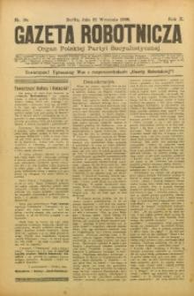 Gazeta Robotnicza, 1900, R. 10, nr 38