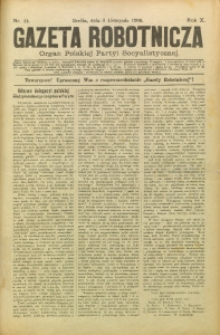 Gazeta Robotnicza, 1900, R. 10, nr 44