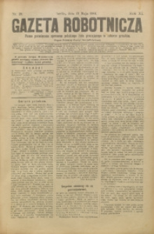 Gazeta Robotnicza, 1901, R. 11, nr 19