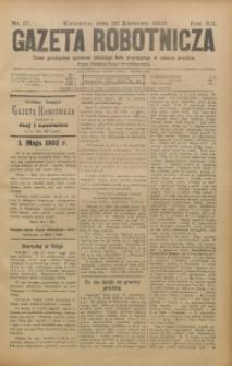 Gazeta Robotnicza, 1902, R. 12, nr 17