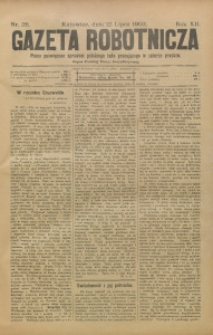 Gazeta Robotnicza, 1902, R. 12, nr 28