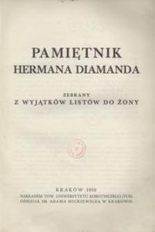 Pamiętnik Hermana Diamanda zebrany z wyjątków listów do żony